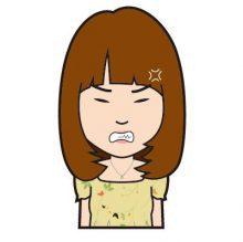 怒りの表情のイラスト