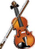 バイオリンの絵