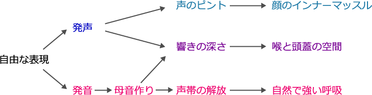 発声と発音の相関図