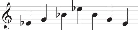 キーEフラットでドミソドソミドの五線譜