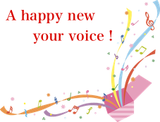 A happy new your voice