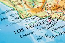 ロサンゼルスの地図