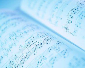 音符の並んだ楽譜